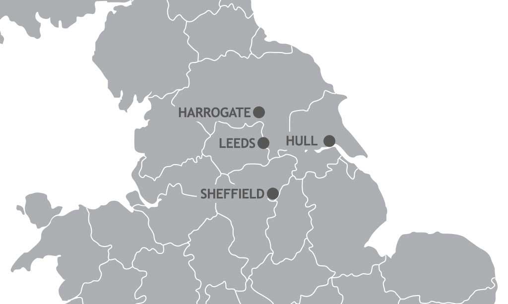 Map Of England Showing Yorkshire.Yorkshire British Triathlon
